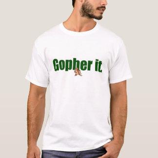 Gopher él playera