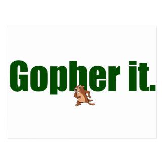Gopher él postales