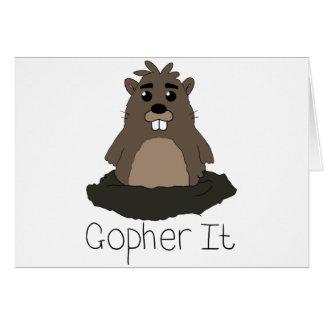 ¡Gopher él! (Vaya para él!) Tarjeta De Felicitación