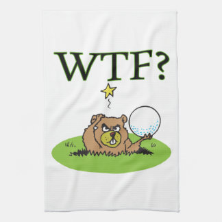 Gopher enojado toallas de mano