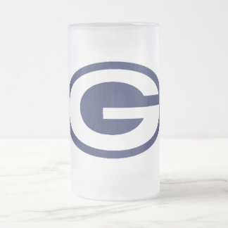 gopher g frosted glass beer mug