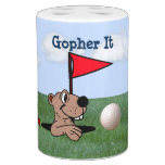 Gopher & Golf Toothbrush Holder & Soap Pump Set
