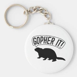 Gopher It Keychain