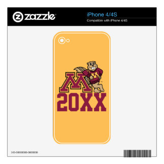 Gopher M Class Year iPhone 4S Decal
