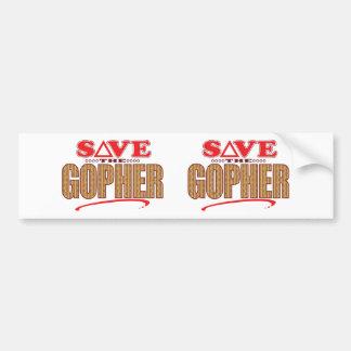 Gopher Save Bumper Sticker