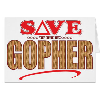 Gopher Save Card