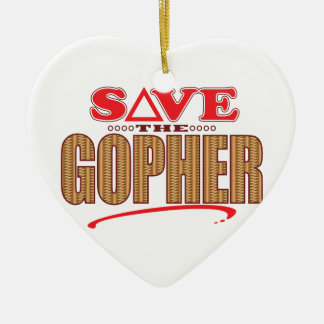 Gopher Save Ceramic Ornament
