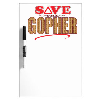 Gopher Save Dry Erase Board