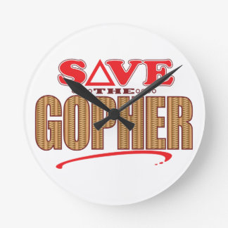 Gopher Save Round Clock
