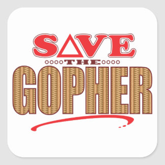 Gopher Save Square Sticker