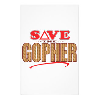 Gopher Save Stationery