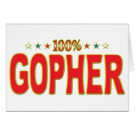 Gopher Star Tag Greeting Card