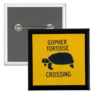 Gopher Tortoise Crossing 2 Pinback Button