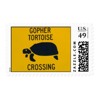 Gopher Tortoise Crossing 2 Postage Stamps