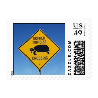 gopher tortoise crossing postage