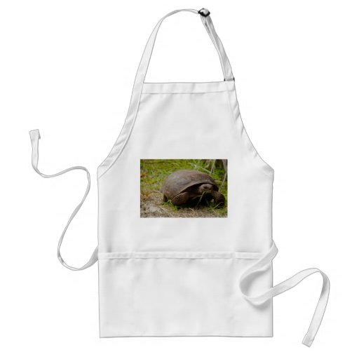 Gopher Tortoise Eats Lunch Apron