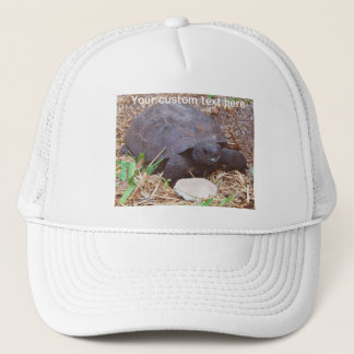 Gopher Turtle with Cuttlebone Mustache Trucker Hat