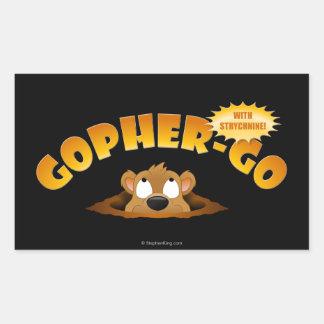 Gopher-Vaya Pegatina Rectangular