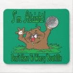 Gopher y la pelota de golf tapetes de ratón