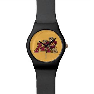 Gopher y Minnesota M de Goldy Reloj De Mano