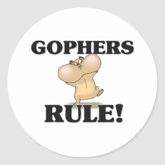 GOPHERS Rule! Classic Round Sticker