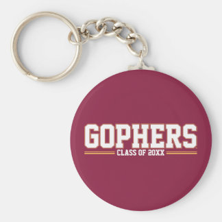 Gophers with Class Year Keychain