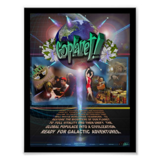 GoPlanet! MOVIEPOSTER by Jim Channon Poster