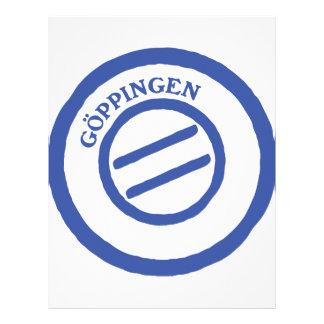 Göppingen post stempel personalized letterhead