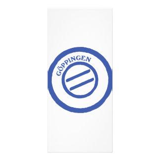 Göppingen post stempel rack card design
