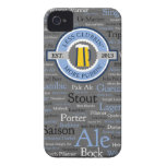 GoPubbin' Beer Styles iPhone 4 Case - Blue/Grey