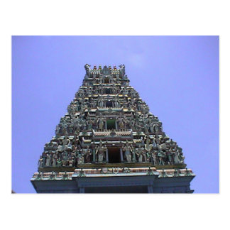Gopuram del templo hindú tarjeta postal