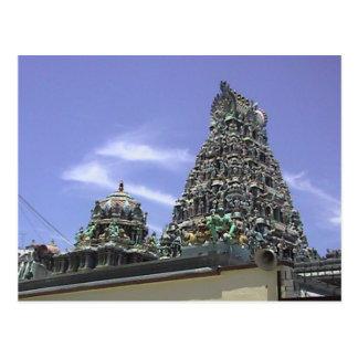 Gopuram en un templo hindú en la poca India Tarjetas Postales