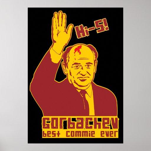 Gorbachev hi-5! Poster