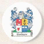 Gordeev Family Crest Beverage Coasters
