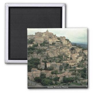 Gordes, Provence, France 2 Inch Square Magnet