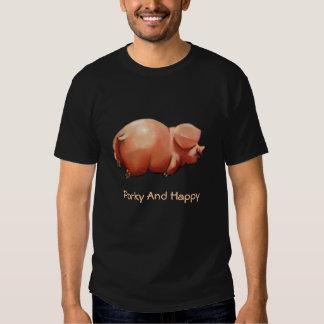 Gordinflón y feliz: Ejemplo: Sonriendo, cerdo Camisas