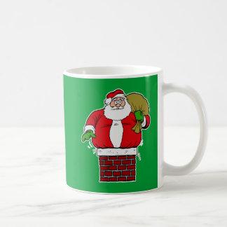 Gordo de Santa demasiado pegado en chimenea Tazas De Café