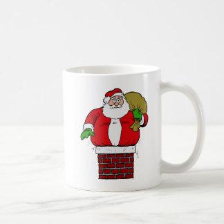 Gordo de Santa demasiado pegado en chimenea Tazas