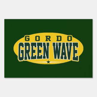 Gordo High School; Green Wave Signs