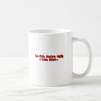 Gordo o feo taza de café