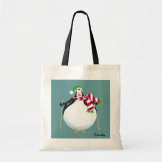 Gordo-Pingüino-tote Bolsa Tela Barata