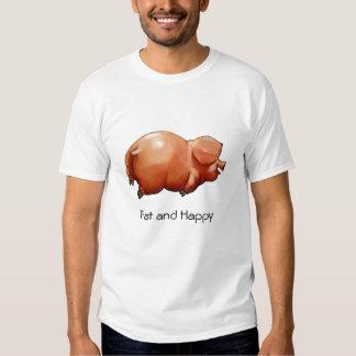 Gordo y feliz: Ilustraciones del cerdo rechoncho, Playeras