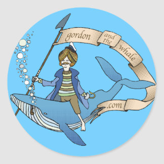 Gordon and Ye Ole Whale Stickers