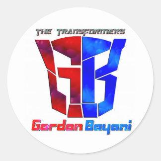 GORDON BAYANI CLASSIC ROUND STICKER