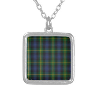 Gordon Clan Family Tartan Silver Plated Necklace