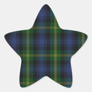 Gordon Clan Family Tartan Star Sticker
