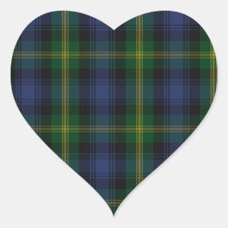 Gordon Clan Family Tartan Heart Sticker