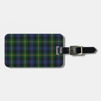 Gordon Clan Family Tartan Travel Bag Tag