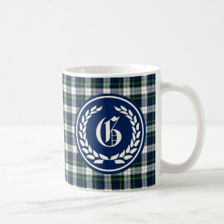 Gordon Clan Formal Dress Tartan Monogram Coffee Mug