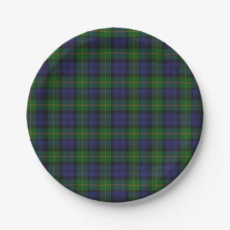 Gordon Clan Tartan Plaid Paper Plate